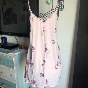 Mimi Chica Lilac Floral Dress
